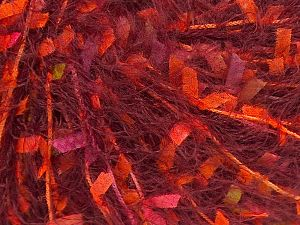 Fiber Content 50% Micro Fiber, 25% Acrylic, 25% Polyester, Pink, Orange, Maroon, Brand Ice Yarns, fnt2-70724
