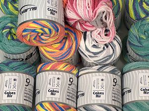 Cakes Air Yarns In this list; you see most recent 50 mixed lots. <br> To see all <a href=&/mixed_lots/o/4#list&>CLICK HERE</a> (Old ones have much better deals)<hr> Fiber Content 50% Polyamide, 50% Acrylic, Brand Ice Yarns, fnt2-70742