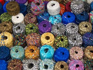 Fancy Yarns Because of the nature of fancy yarns, yardage of skeins may be different from one to another. The total net weight of the lot which is 2000 grams may differ around +-5%. In this list; you see most recent 50 mixed lots. <br> To see all <a href=&/mixed_lots/o/4#list&>CLICK HERE</a> (Old ones have much better deals)<hr> Brand Ice Yarns, fnt2-70749