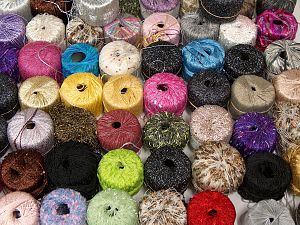 Fancy Yarns Because of the nature of fancy yarns, yardage of skeins may be different from one to another. The total net weight of the lot which is 2000 grams may differ around +-5%. In this list; you see most recent 50 mixed lots. <br> To see all <a href=&/mixed_lots/o/4#list&>CLICK HERE</a> (Old ones have much better deals)<hr> Brand Ice Yarns, fnt2-70751