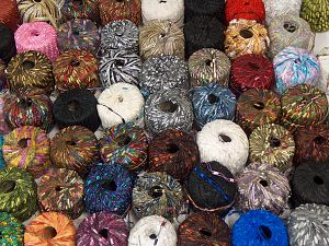 Fancy Yarns Because of the nature of fancy yarns, yardage of skeins may be different from one to another. The total net weight of the lot which is 2000 grams may differ around +-5%. In this list; you see most recent 50 mixed lots. <br> To see all <a href=&/mixed_lots/o/4#list&>CLICK HERE</a> (Old ones have much better deals)<hr> Brand Ice Yarns, fnt2-70752