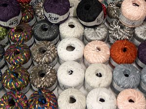 Fancy Yarns Because of the nature of fancy yarns, yardage of skeins may be different from one to another. The total net weight of the lot which is 2000 grams may differ around +-5%. In this list; you see most recent 50 mixed lots. <br> To see all <a href=&/mixed_lots/o/4#list&>CLICK HERE</a> (Old ones have much better deals)<hr> Brand Ice Yarns, fnt2-70757