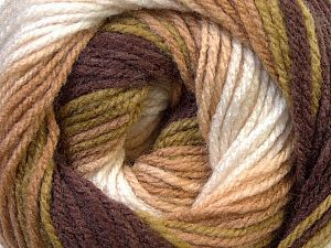 Fiber Content 100% Baby Acrylic, White, Brand Ice Yarns, Green, Camel, Brown, fnt2-70759