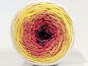 Please be advised that yarns are made of recycled cotton, and dye lot differences occur. Fiber Content 100% Cotton, Yellow, White, Pink, Navy, Brand Ice Yarns, fnt2-70807