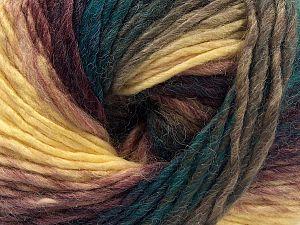 Vezelgehalte 70% Acryl, 30% Wol, Yellow, Brand Ice Yarns, Emerald Green, Brown, Yarn Thickness 3 Light DK, Light, Worsted, fnt2-70820