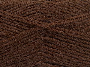 Fiber Content 50% Wool, 50% Acrylic, Brand Ice Yarns, Brown, fnt2-70824