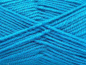Fiber Content 50% Wool, 50% Acrylic, Turquoise, Brand Ice Yarns, fnt2-70826