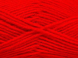 Fiber Content 50% Wool, 50% Acrylic, Red, Brand Ice Yarns, fnt2-70827