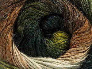 Fiber Content 60% Premium Acrylic, 20% Wool, 20% Alpaca, White, Brand Ice Yarns, Green Shades, Brown Shades, fnt2-70832