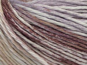 Vezelgehalte 100% Katoen, White, Lilac, Brand Ice Yarns, Brown, Beige, fnt2-70840