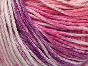 Fiber Content 100% Cotton, White, Pink Shades, Lilac Shades, Brand Ice Yarns, fnt2-70843