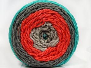 Fiber Content 100% Acrylic, Turquoise, Orange, Light Grey, Brand Ice Yarns, Green, Beige, fnt2-70855