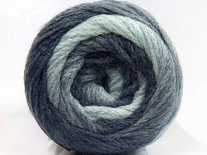 Fiber Content 90% Acrylic, 10% Polyamide, Brand Ice Yarns, Blue Shades, fnt2-70860