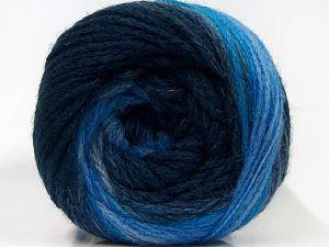 Fiber Content 90% Acrylic, 10% Polyamide, Brand Ice Yarns, Blue Shades, fnt2-70862