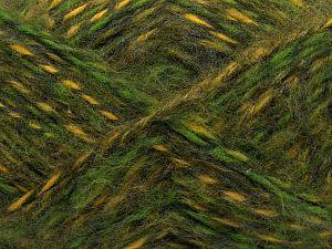 Fiber Content 50% Wool, 30% Acrylic, 20% Alpaca, Yellow, Brand Ice Yarns, Green Shades, fnt2-70878