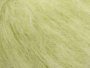Fiber Content 40% Nylon, 40% Mohair, 20% Acrylic, Light Green, Brand Ice Yarns, fnt2-70915