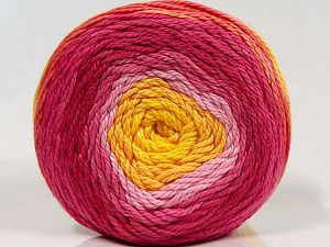 Fiber Content 100% Cotton, Yellow, Pink Shades, Brand Ice Yarns, fnt2-70929