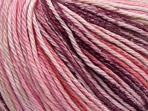 Fiber Content 100% Cotton, Pink Shades, Maroon, Brand Ice Yarns, fnt2-70931