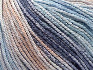 Fiber Content 100% Cotton, Brand Ice Yarns, Blue Shades, Beige, fnt2-70934
