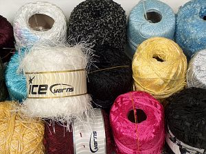 Fancy yarns In this list; you see most recent 50 mixed lots. <br> To see all <a href=&/mixed_lots/o/4#list&>CLICK HERE</a> (Old ones have much better deals)<hr> Brand Ice Yarns, fnt2-70997