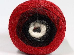 Fiber Content 90% Acrylic, 10% Polyamide, White, Red, Brand Ice Yarns, Black, fnt2-71058
