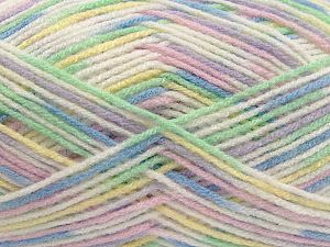 Fiber Content 100% Acrylic, Yellow, White, Pink, Lilac, Brand Ice Yarns, Green, fnt2-71075