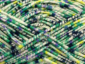 Fiber Content 50% Acrylic, 37% Polyester, 13% Wool, Lilac, Brand Ice Yarns, Green, Cream, fnt2-71106