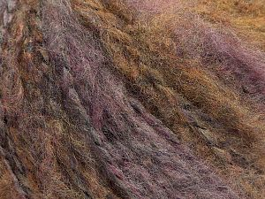 Fiber Content 49% Acrylic, 40% Wool, 11% Polyester, Lilac, Brand Ice Yarns, Brown, fnt2-71107