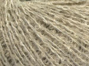 Fiber Content 80% Acrylic, 10% Nylon, 10% Wool, Light Grey, Light Cream, Brand Ice Yarns, fnt2-71108