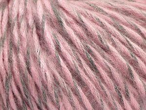 Fiber Content 60% Acrylic, 28% Nylon, 12% Wool, Light Pink, Light Grey, Brand Ice Yarns, fnt2-71112