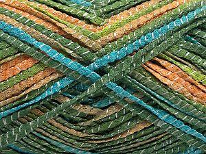 Fiber Content 85% Acrylic, 15% Viscose, Turquoise, Brand Ice Yarns, Green, Gold, fnt2-71126