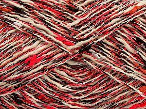 Fiber Content 5% Metallic Lurex, 45% Cotton, 25% Polyester, 25% Acrylic, Silver, Neon Pink, Brand Ice Yarns, Cream, Black, fnt2-71130