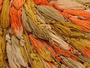 Fiber Content 100% Polyester, Orange, Olive Green, Light Camel, Brand Ice Yarns, Beige, fnt2-71141
