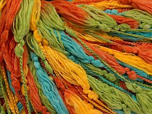 Fiber Content 100% Polyester, Yellow, Turquoise, Brand Ice Yarns, Green, Copper, fnt2-71142