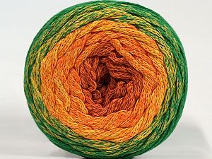 Please be advised that yarns are made of recycled cotton, and dye lot differences occur. Fiber Content 100% Cotton, Yellow, Orange, Brand Ice Yarns, Green, Copper, fnt2-71149