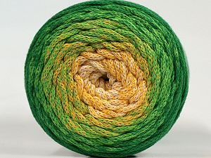 Please be advised that yarns are made of recycled cotton, and dye lot differences occur. Fiber Content 100% Cotton, Yellow, White, Brand Ice Yarns, Green Shades, fnt2-71150