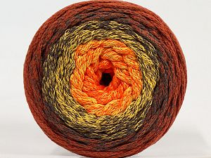 Please be advised that yarns are made of recycled cotton, and dye lot differences occur. Fiber Content 100% Cotton, Yellow, Orange, Brand Ice Yarns, Copper, Brown, fnt2-71151