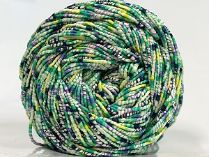 Fiber Content 50% Acrylic, 37% Polyester, 13% Wool, Lilac, Brand Ice Yarns, Green, Cream, fnt2-71155