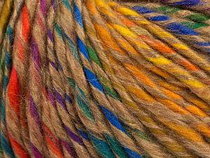 Fiber Content 60% Acrylic, 25% Viscose, 15% Cotton, Rainbow, Milky Brown, Brand Ice Yarns, fnt2-71166