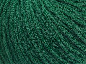 Fiber Content 50% Cotton, 50% Acrylic, Brand Ice Yarns, Emerald Green, fnt2-71168