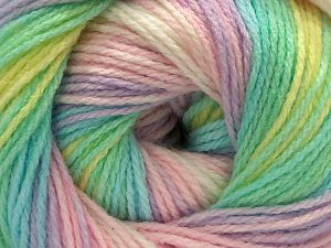 Fiber Content 100% Acrylic, Yellow, White, Mint Green, Light Lilac, Brand Ice Yarns, Baby Pink, fnt2-71201