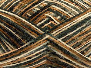 Fiber Content 70% Acrylic, 30% Wool, Brand Ice Yarns, Grey, Cream, Brown, Black, fnt2-71231