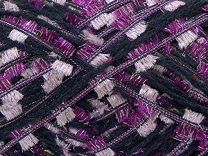 Fiber Content 5% Metallic Lurex, 45% Polyester, 35% Acrylic, 2% Viscose, 13% Wool, Purple, Light Lilac, Brand Ice Yarns, Dark Navy, fnt2-71253
