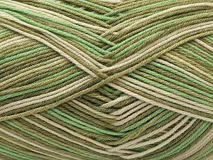 Vezelgehalte 50% Acryl, 50% Katoen, Brand Ice Yarns, Green Shades, Beige, Yarn Thickness 2 Fine Sport, Baby, fnt2-71260