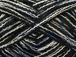 Fiber Content 50% Polyester, 5% Metallic Lurex, 20% Polyamide, 15% Acrylic, 10% Viscose, Turquoise, Navy, Brand Ice Yarns, Gold, Black, fnt2-71282