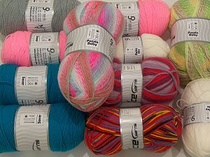 Acrylic Yarns In this list; you see most recent 50 mixed lots. <br> To see all <a href=&/mixed_lots/o/4#list&>CLICK HERE</a> (Old ones have much better deals)<hr> Vezelgehalte 100% Acryl, Brand Ice Yarns, fnt2-71321