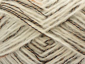Fiber Content 40% Acrylic, 30% Wool, 15% Nylon, 15% Polyamide, Orange, Brand Ice Yarns, Ecru, Black, fnt2-71346