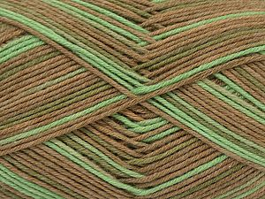 Fiber Content 50% Acrylic, 50% Cotton, Light Brown, Brand Ice Yarns, Green Shades, fnt2-71419