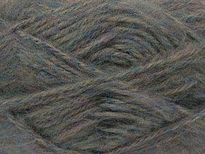 Fiber Content 70% Acrylic, 15% Wool, 15% Mohair, Light Lilac, Light Grey, Brand Ice Yarns, Blue, fnt2-71474