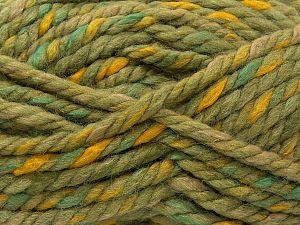 Fiber Content 50% Acrylic, 50% Wool, Yellow, Brand Ice Yarns, Green Shades, fnt2-71496